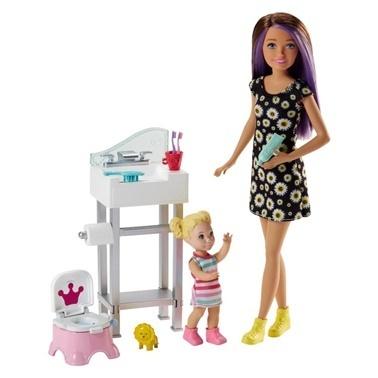 Barbie Barbie Bebek Bakıcılığı Oyun Seti Renkli